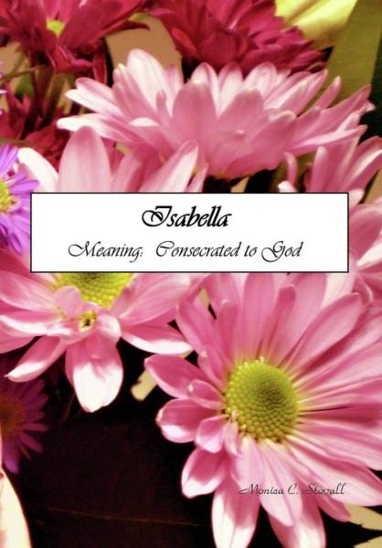 Isabella - Name Poster Art Print