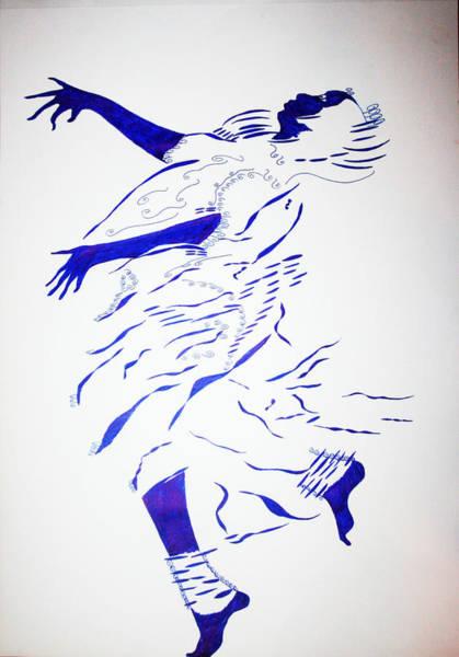 Drawing - Ishaka Dance - Burundi by Gloria Ssali