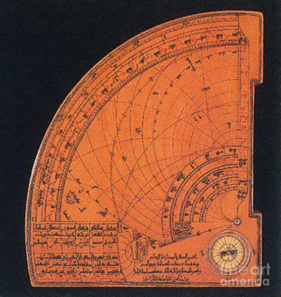 Photograph - Islamic Quadrant Astrolabe 14th Century by Science Source