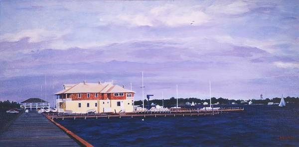 Painting - Island Heights Yacht Club by Robert Henne