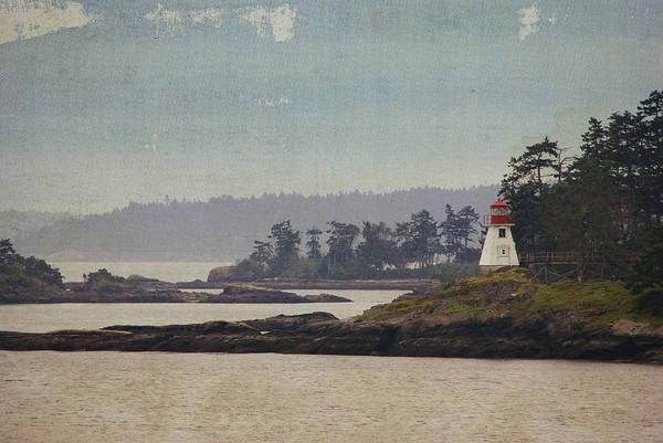 Photograph - Island Lighthouse - Textured by Marilyn Wilson