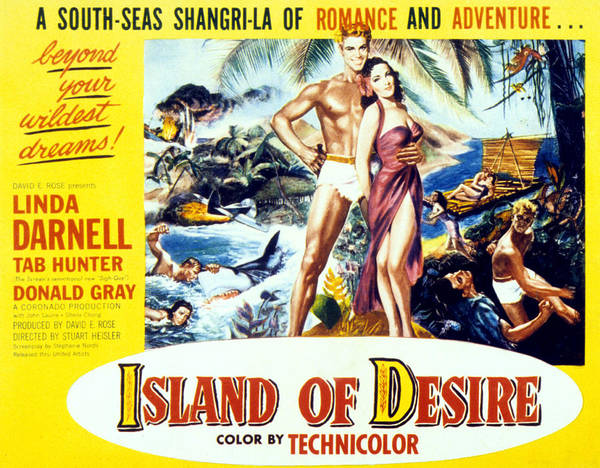 Tab Photograph - Island Of Desire, From Left Tab Hunter by Everett