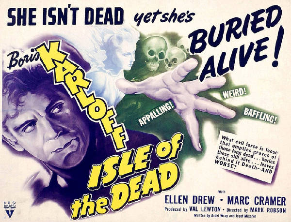 The Undead Photograph - Isle Of The Dead, From Left Boris by Everett