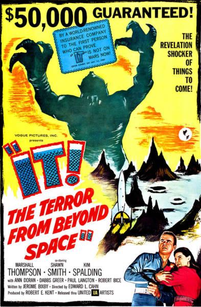 1958 Movies Photograph - It The Terror From Beyond Space, Ray by Everett