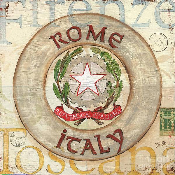 Rome Wall Art - Painting - Italian Coat Of Arms by Debbie DeWitt