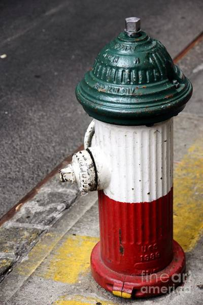 Little Italy Photograph - Italian Fire Hydrant by Sophie Vigneault