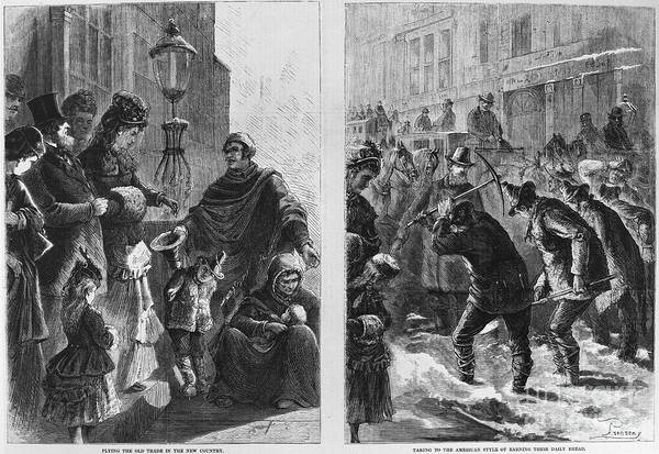 Italian Immigrants Wall Art - Photograph - Italian Immigrants, 1873 by Granger