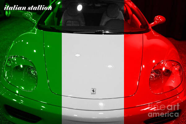 Photograph - Italian Stallion . 2000 Ferrari 360 Modena F1 by Wingsdomain Art and Photography