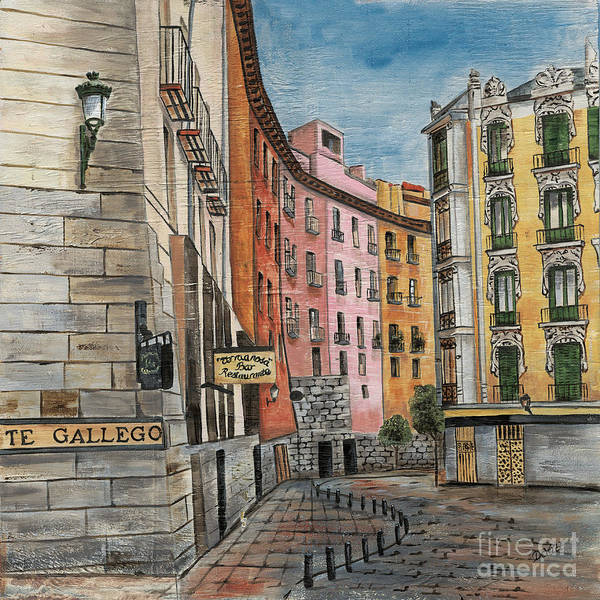 Cafes Wall Art - Painting - Italian Village 2 by Debbie DeWitt