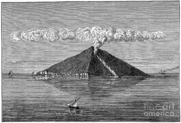 Photograph - Italy: Mount Stromboli by Granger