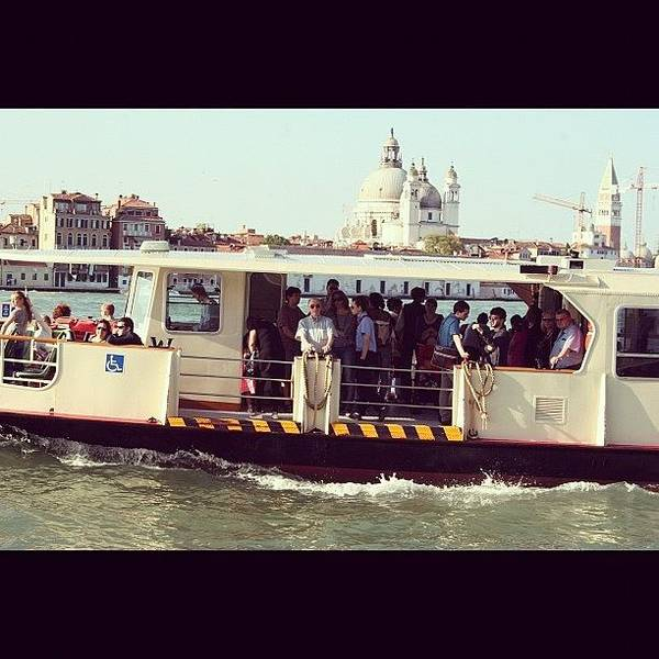 Bus Photograph - #italy #venice #boat #people #lagoon by Lewisduncan Duncan