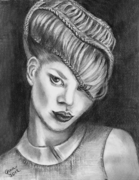 Hairdo Drawing - It's All About The Hair by Gina Cordova