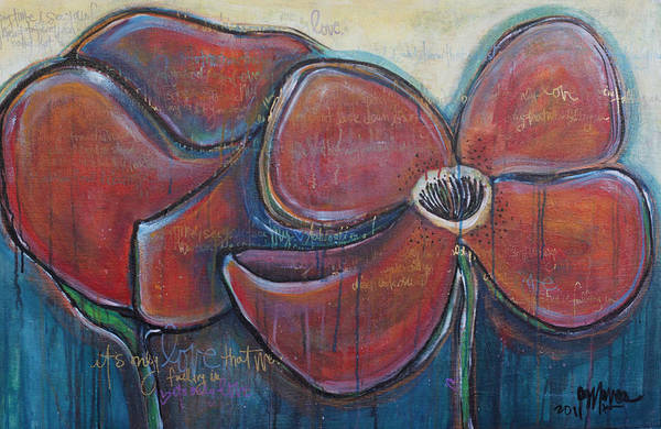 Painting - It's Only Love Poppies by Laurie Maves ART