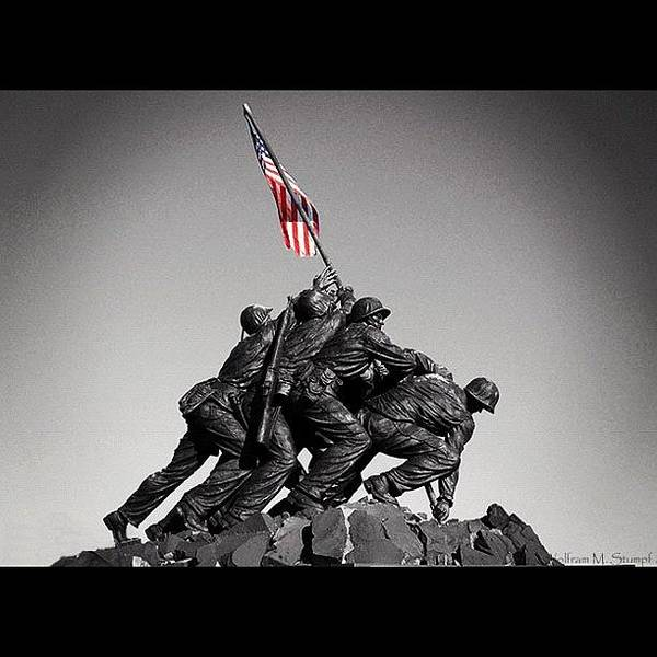 Military Photograph - Iwo Jima by Wolf Stumpf