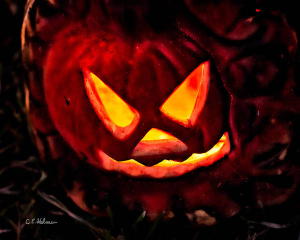 Photograph - Jack-o-lantern by Christopher Holmes