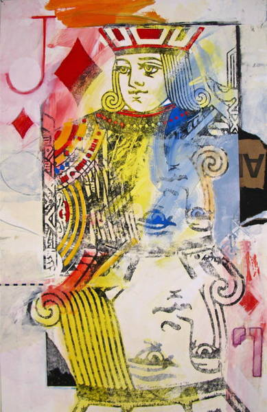 Painting - Jack Of Diamonds 13-52 by Cliff Spohn