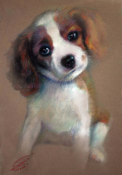 Terriers Wall Art - Pastel - Jack Russell Terrier Dog by Ylli Haruni