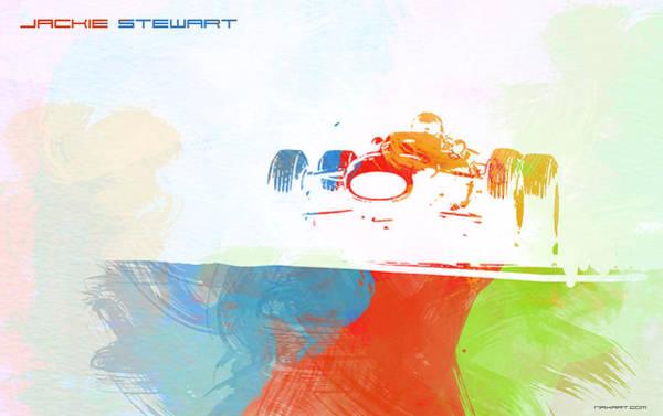 Power Painting - Jackie Stewart by Naxart Studio