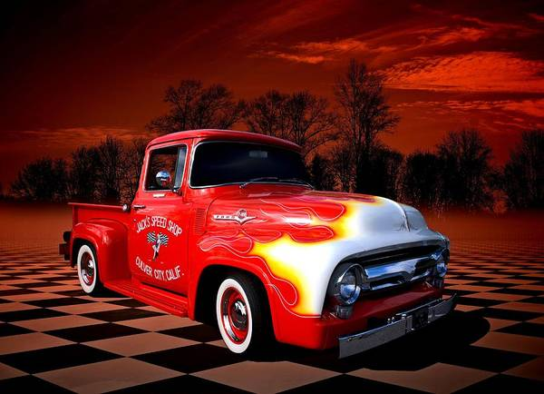 Photograph - Jacks Speed Shop 1956 Ford Pickup by Tim McCullough