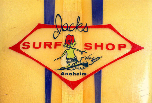 Longboard Photograph - Jacks Surf Shop by Ron Regalado