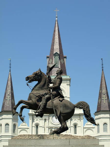 Photograph - Jackson And The St. Louis Cathedral by Jeffrey Peterson