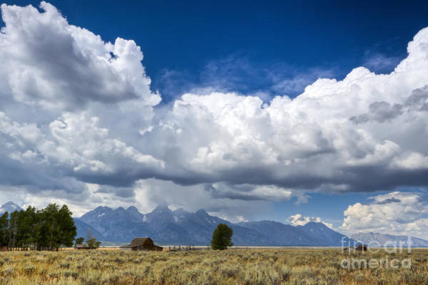 Jackson Hole Wall Art - Photograph - Jackson Hole Barn And Clouds by Dustin K Ryan