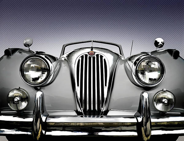 Roadster Wall Art - Digital Art - Jag Convertible by Douglas Pittman