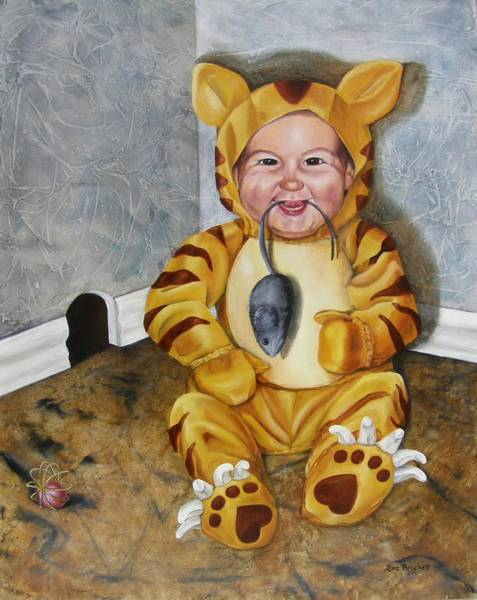 Painting - James-a-cat by Lori Brackett