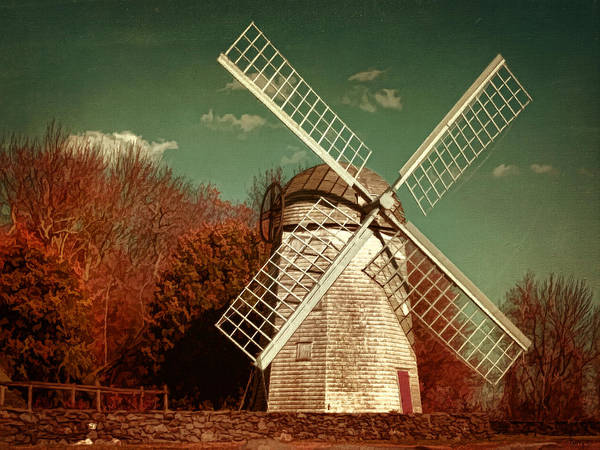 Newport Ri Wall Art - Photograph - Jamestown Windmill by Lourry Legarde