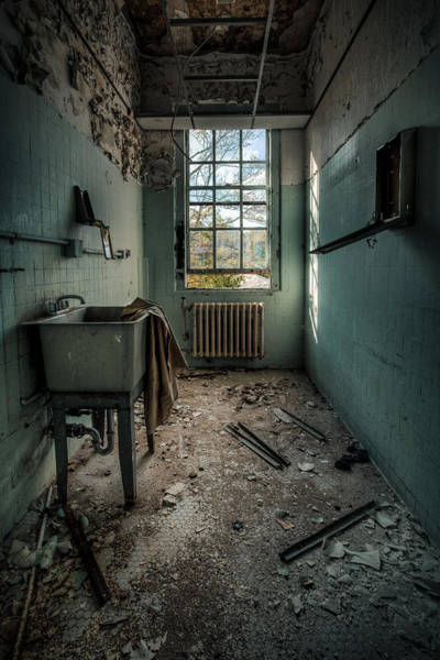 Crumble Photograph - Janitors Closet by Gary Heller