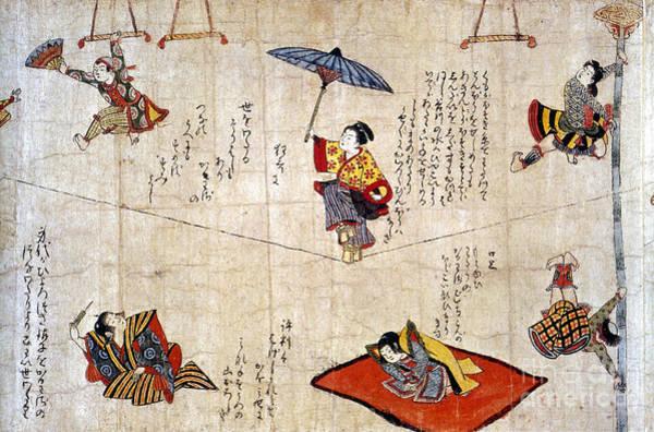 Trapeze Photograph - Japan: Acrobats by Granger