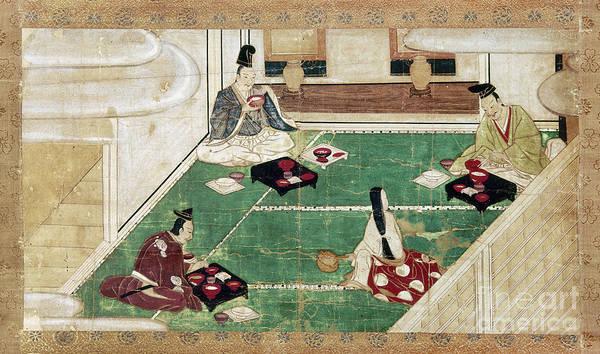 Feudal Japan Wall Art - Photograph - Japan: Eating Rice by Granger