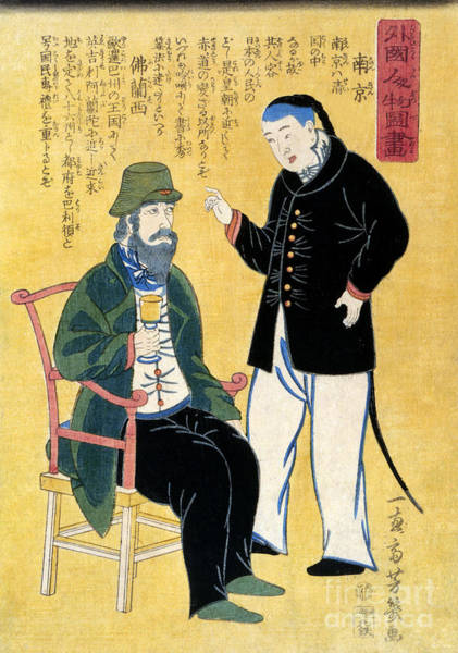 Photograph - Japan: Foreigners, C1861 by Granger