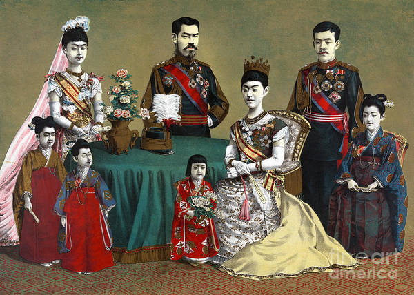 Emperor Of Japan Wall Art - Photograph - Japan: Imperial Family by Granger