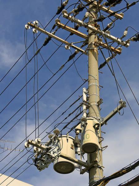 Utility Pole Photograph - Japan Power Utility Pole by Daniel Hagerman