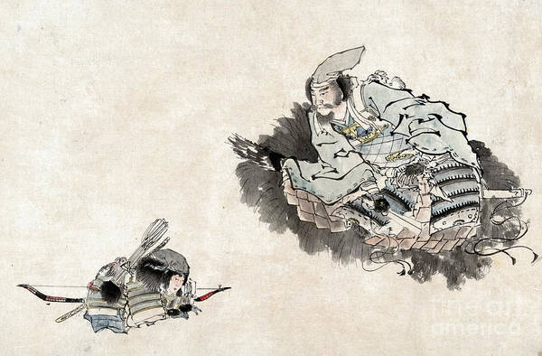 Photograph - Japan: Samurai & Student by Granger