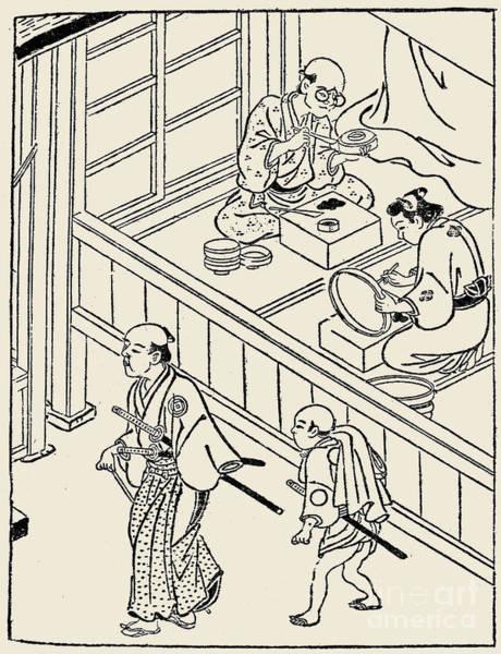 Photograph - Japan: Samurai, 1700 by Granger