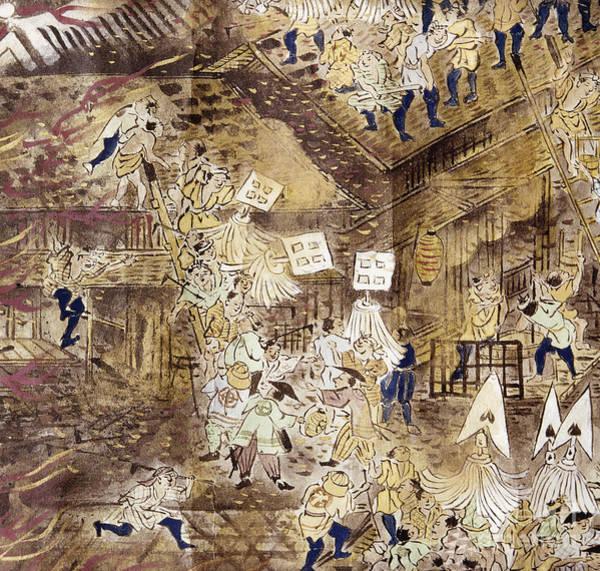 Photograph - Japan: Tokyo Fire, 1858 by Granger