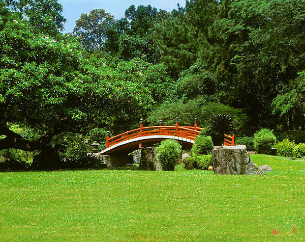 Photograph - Japanese Garden Bridge 21m by Gerry Gantt