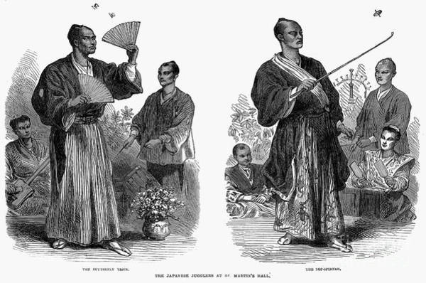 Juggler Photograph - Japanese Jugglers, 1867 by Granger