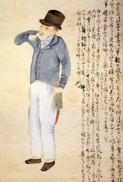Temperance Movement Photograph - Japanese Print Of An American Sailor by Everett