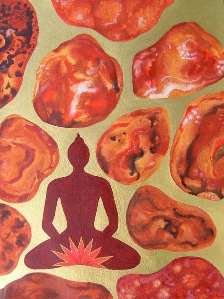 Wall Art - Painting - Jasper Root Chakra by Jennifer Baird