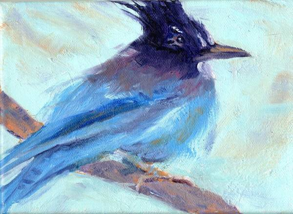Wall Art - Painting - Jay To The Right by Cheryl Whitehall