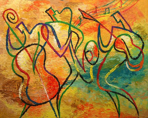 Jazz-funk Wall Art - Painting - Jazz-funk by Leon Zernitsky