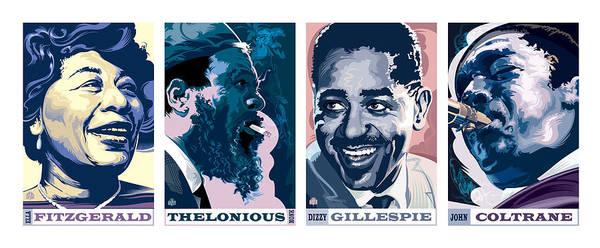 John Coltrane Wall Art - Painting - Jazz Portrait Series Part 1 by Garth Glazier