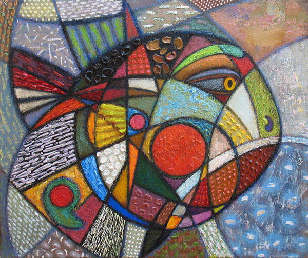 Wall Art - Painting - Jealous Fish I. 2011 by Yuri Yudaev-Racei