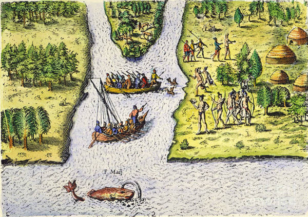 Photograph - Jean Ribault: Florida, 1562 by Granger
