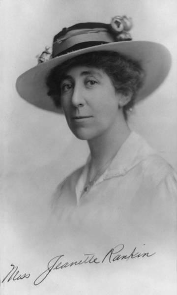 Member Of Congress Wall Art - Photograph - Jeannette Rankin 1880-1973, In 1916 by Everett