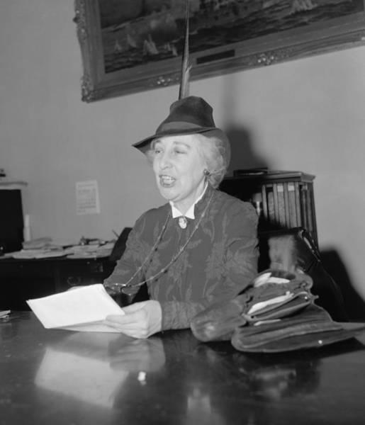 Member Of Congress Wall Art - Photograph - Jeannette Rankin 1880-1973, In 1939 by Everett