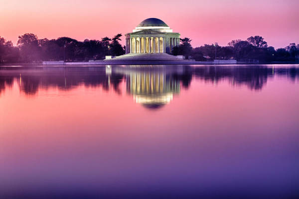 Photograph - Jefferson Memorial At Sunrise 1 by Val Black Russian Tourchin